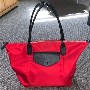 Banana Republic Red Nylon Travel Tote